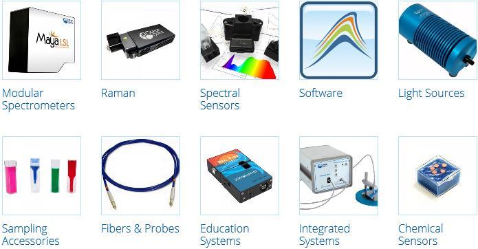 Ocean Optics products