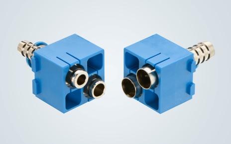 Han Pneumatik Doppelmodul Han-Modular pneumatic double module